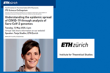 Tomorrow Virtual Talk by Tanja Stadler: Understanding the epidemic spread of COVID-​19 through analysis of Sars-​CoV-2 genomes