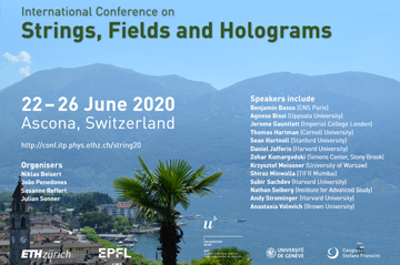 Strings, Fields and Holograms Conference - organised by four of our members