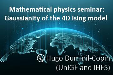 Online mathematical physics seminar