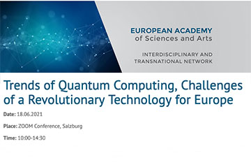 Trends of Quantum Computing - Challenges of a Revolutionary Technology for Europe (online, 18th June)