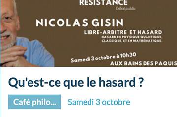 Public debate with Nicolas Gisin in Geneva