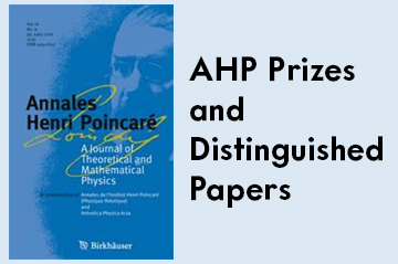 Renato Renner (ETH Zurich) was awarded the AHP Prize