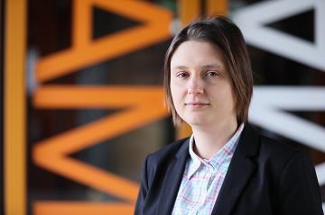 Maryna Viazovska during the EPFL Open Days