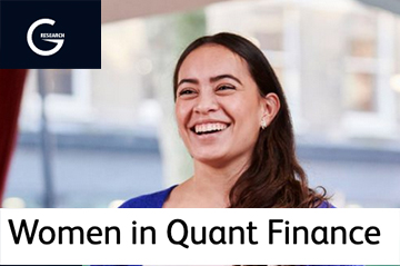 "G-Research ""Women in Quant Finance event""  Nov 23-24"