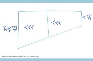 Monthly maths problem from RTSdécouverte - Babylonian math problem