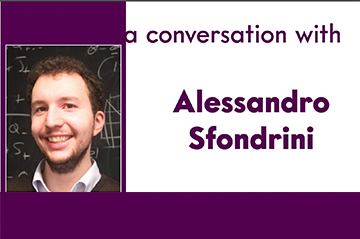 A conversation with Alessandro Sfondrini