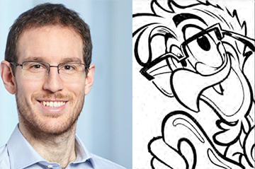 Our member Alessio Figalli, Uncle Scrooge and the Four-dimensional Corkscrew